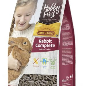 Hobbyfirst hopefarms 3 KG Rabbit Complete - getreidefreies Kaninchenfutter mit hohem Timothy-Heu Anteil